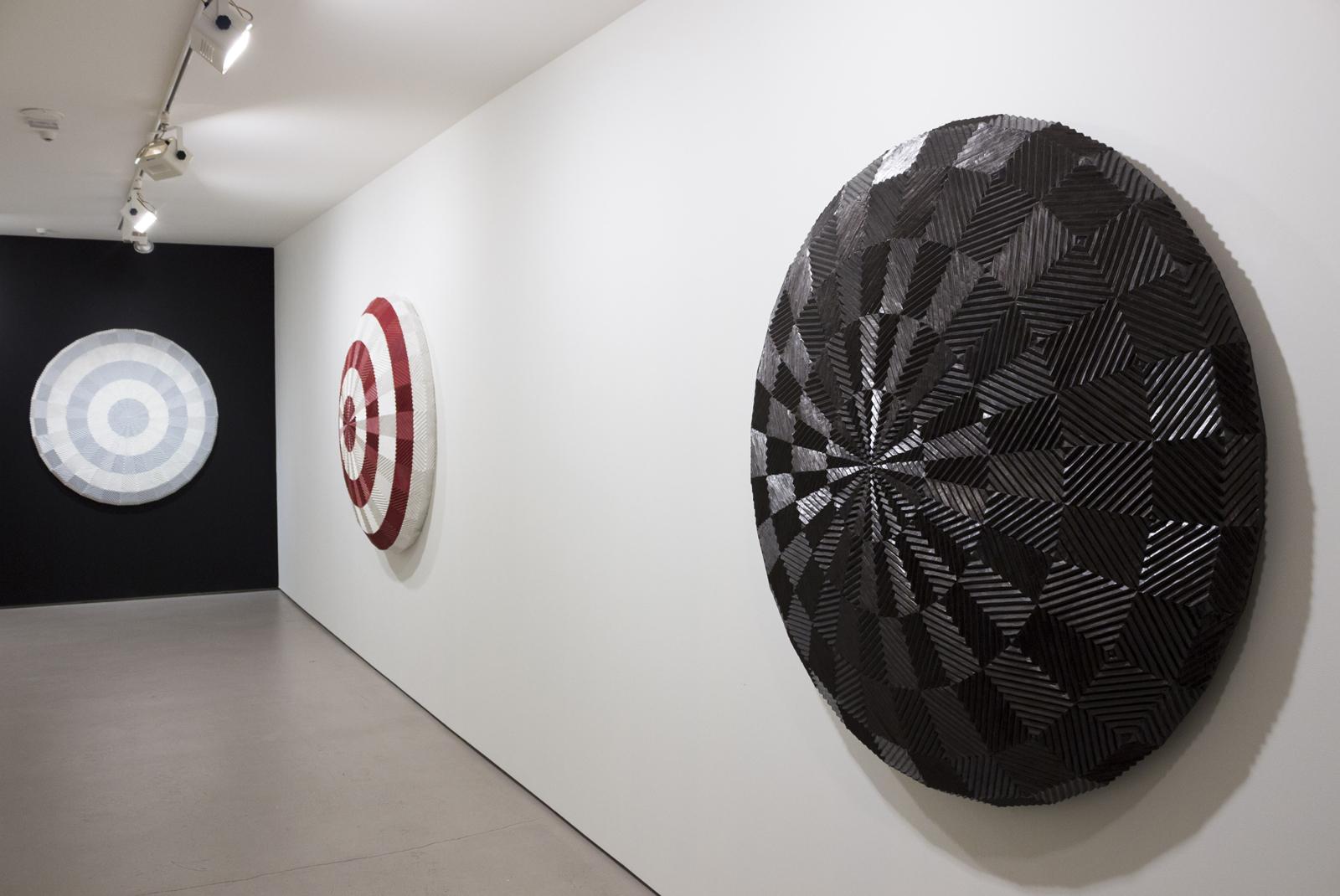 Resettle series (installation view), by New Zealand artist Brett Graham
