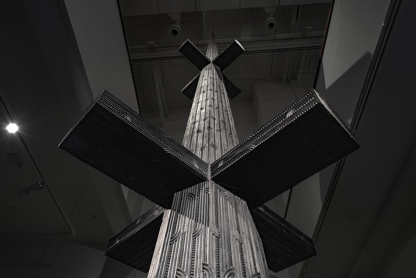 Cease Tide of Wrong-Doing (Tai Moana Tai Tangata), sculpture by New Zealand artist Brett Graham