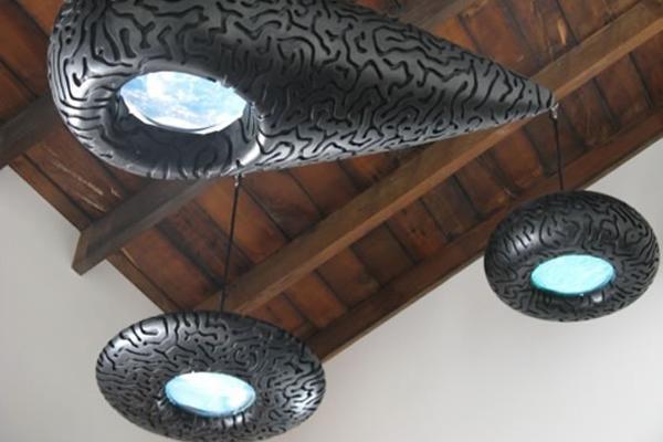 UFOB, installation by New Zealand artists Rachael Rakena and Brett Graham