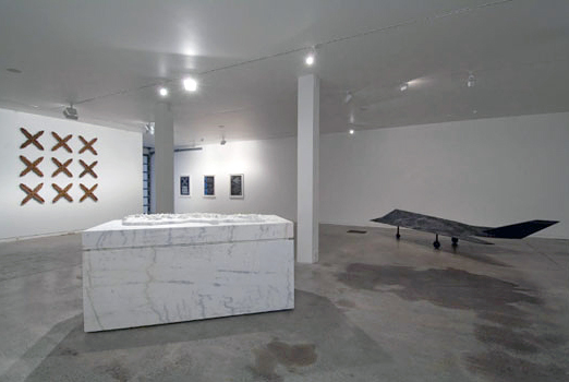 Brett Graham's Campaign Rooms exhibition at Two Rooms Gallery, Auckland, New Zealand