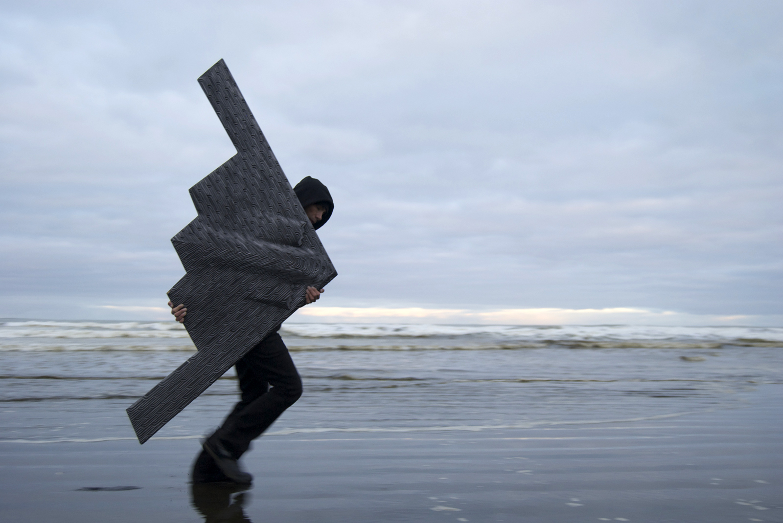 Foreshore Defender (Tūmatauenga / Humanity), sculpture by New Zealand artist Brett Graham