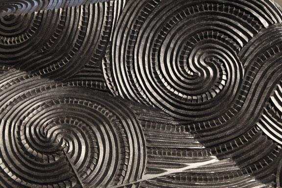 Detail of Te Hōkioi (Tūmatauenga / Humanity), sculpture by New Zealand artist Brett Graham
